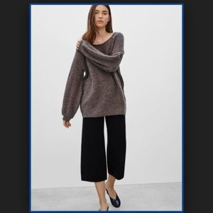 Wilfred Chapais Brown Sweater Long Slv Wool Mohair